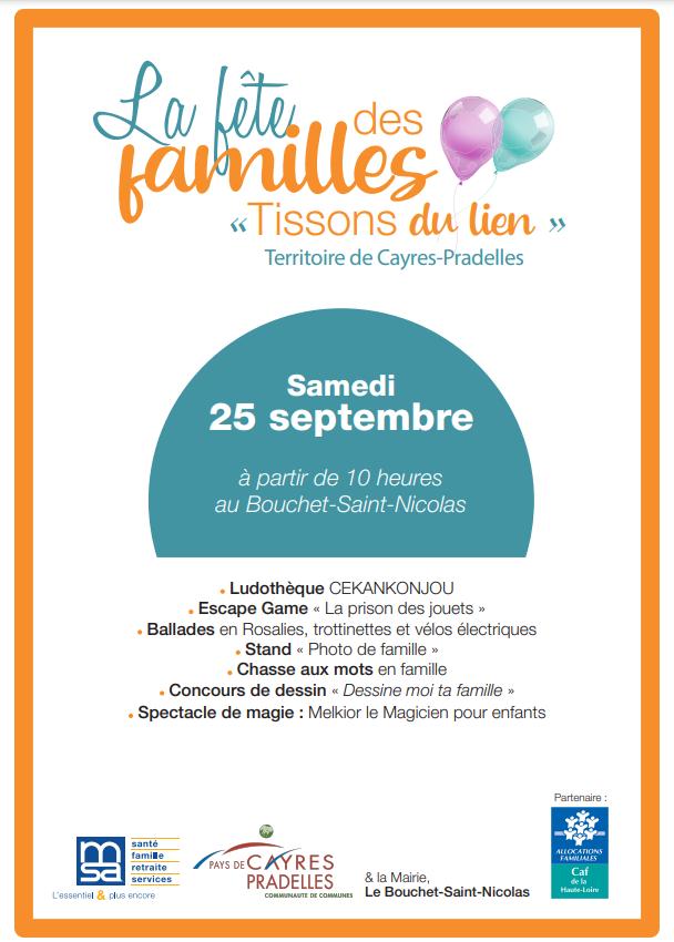 """La Fête des familles """" Tissons du lien"""""""