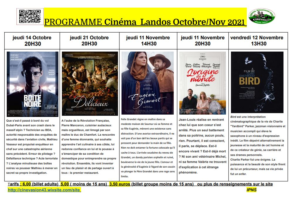 Programme Cinéma Landos