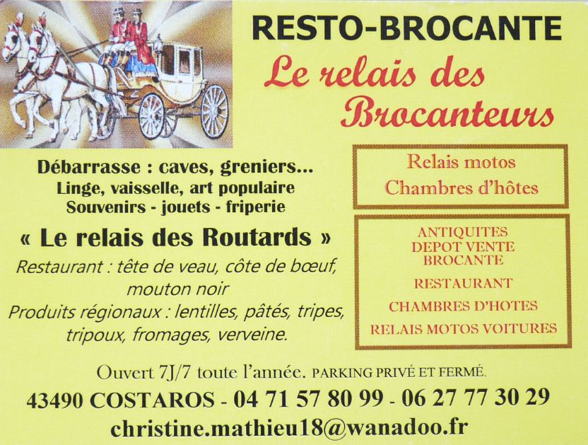 Le Relais des brocanteurs / COSTAROS