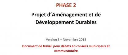 PADD - Document de travail pour débats - PADD - Document de travail pour débats 2